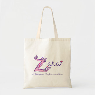 Zara name meaning personalized library bag