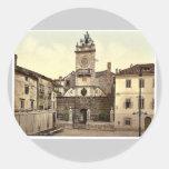 Zara, Signori Square, Dalmatia, Austro-Hungary rar Round Stickers
