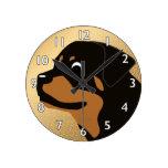 Zara the Rottweiler Round Clock