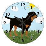 Zara the Rottweiler Wall Clock
