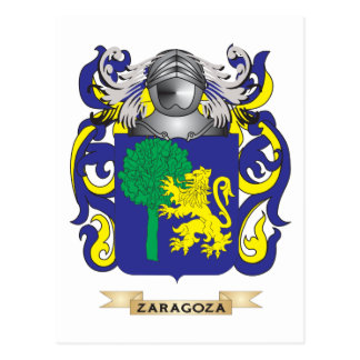 Zaragoza Family Crest (Coat of Arms) Postcard