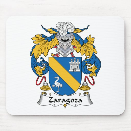 Zaragoza Family Crest Mouse Pads