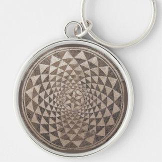 Zaragoza Salduba Geometric Mosaic Keychain