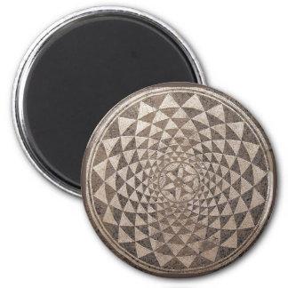 Zaragoza Salduba Geometric Mosaic Refrigerator Magnets