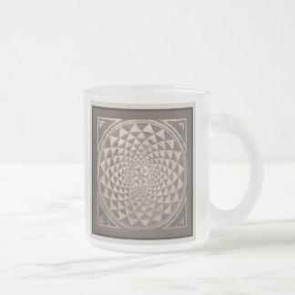 Zaragoza Salduba Geometric Mosaic 10 Oz Frosted Glass Coffee Mug