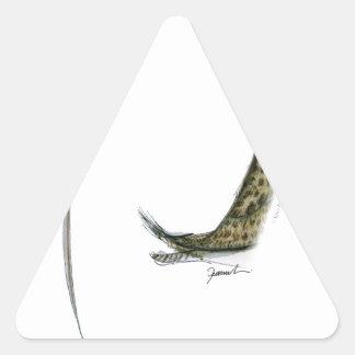 zarapito, fernandes tony pegatina triangular