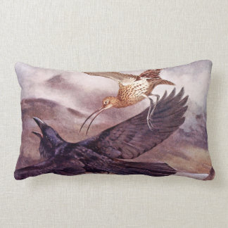 Zarapito que persigue un cuervo almohadas