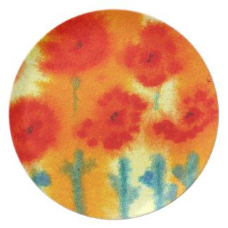 zarathustras flowers...art by Jutta Gabriel... Melamine Plate