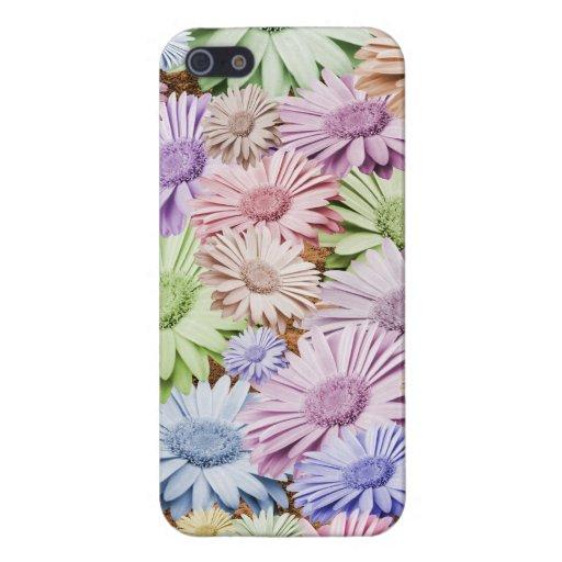 Zaraza en colores pastel del Gerbera floral iPhone 5 Funda