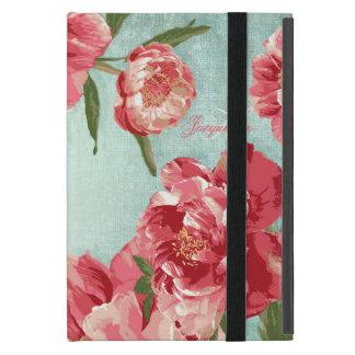 Zaraza personalizada flor retra bonita del iPad mini carcasas