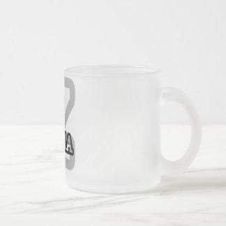 Zaria 10 Oz Frosted Glass Coffee Mug