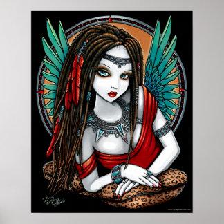 Zaria Tribal Aztec Mesoamerica Angel Poster