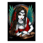 Zaria Tribal Aztec Mesoamerica Goddess Angel Fairy Greeting Card