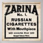 Zarina Russian Cigarette Sign Print