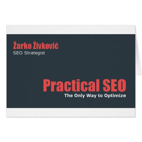 Zarko Zivkovic - Practical SEO Card