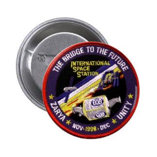 Zarya-Unity Modules of the ISS Pinback Button