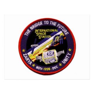 Zarya-Unity Modules of the ISS Postcard