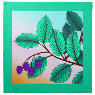 Zarzamoras en una rama servilleta