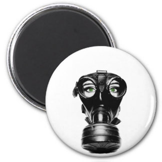 ZAS_Green_Eyed_Gas_Mask_1_POSTER.jpg 2 Inch Round Magnet