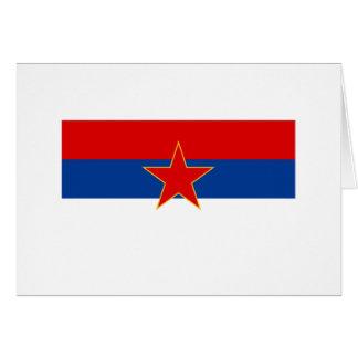 Zastava Crne Gore, bandera de Montenegro Tarjeta De Felicitación