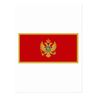 Zastava Crne Gore, bandera de Montenegro Tarjeta Postal