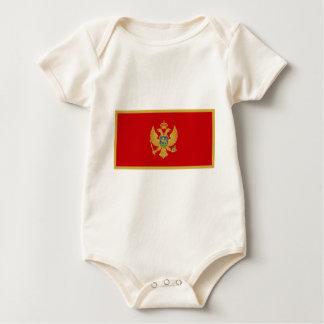 Zastava Crne Gore, Montenegro flag Baby Bodysuit