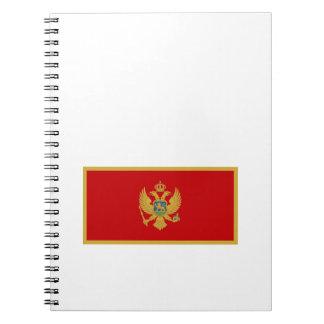 Zastava Crne Gore Montenegro flag Spiral Note Books