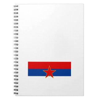 Zastava Crne Gore Montenegro flag Spiral Notebooks