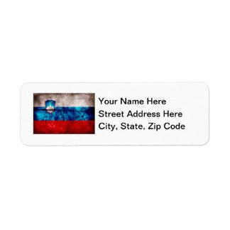 Zastava Slovenije Return Address Label
