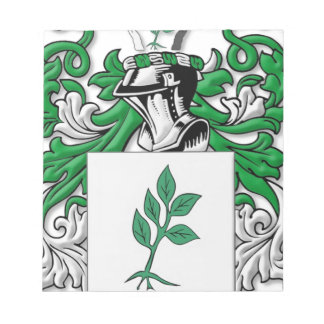 Zastrow Coat of Arms Notepad