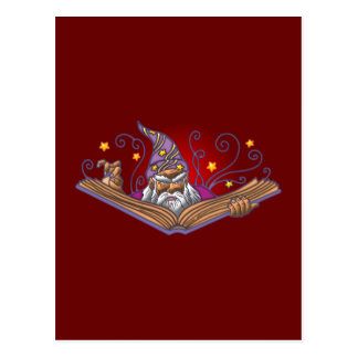 Zauberer Buch Grimoire wizard sorcerer warlock Postkarte
