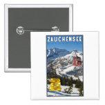 Zauchensee Ski Resort 2 Inch Square Button