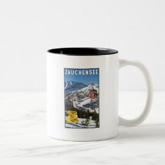 Zauchensee Ski Resort Two-Tone Coffee Mug