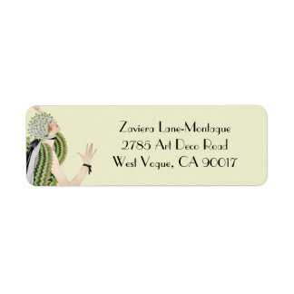 Zaviera in Green and Olive Return Address Labels