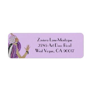 Zaviera in Pink and Purple Custom Return Address Labels