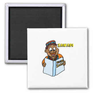 Zawadi Man 2 Inch Square Magnet