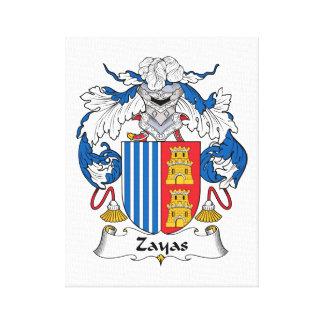 Zayas Family Crest Canvas Print