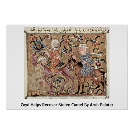 Zayd Helps Recover Stolen Camel By Arab Painter Poster