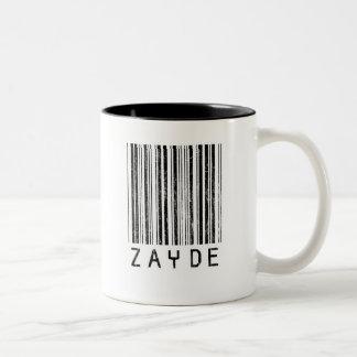Zayde Barcode Two-Tone Coffee Mug