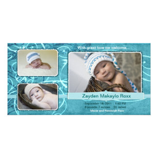 Zayden Beautiful Birth Announcements Teal