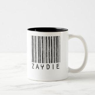 Zaydie Barcode Two-Tone Coffee Mug