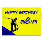 ZAZ256 Happy Birthday Sk8ter Greeting Card