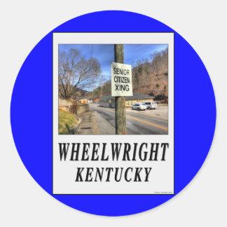 ZAZ320 Wheelright Ky. Classic Round Sticker