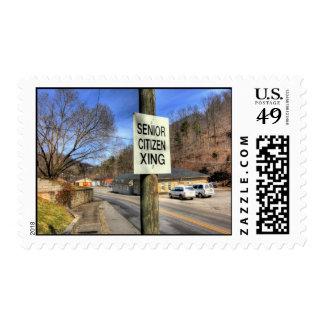 ZAZ340 Senior Citizen Crossing Postage