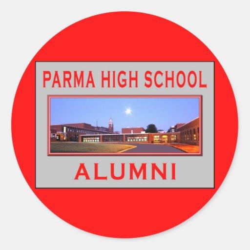 ZAZ383 PSH Alumni Round Sticker
