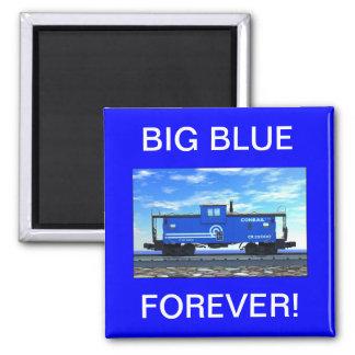 ZAZ420 BIG BLUE FOREVER! 2 INCH SQUARE MAGNET