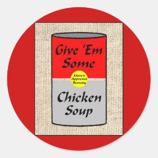 ZAZ421 Chicken Soup Classic Round Sticker