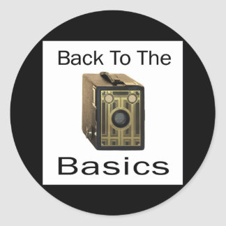 ZAZ424 Back to the Basics Classic Round Sticker