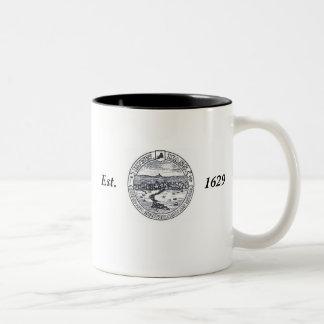 ZAZ_LynnFireDept_Logo, ZAZ_Lynn_CitySeal, Servi... Two-Tone Coffee Mug