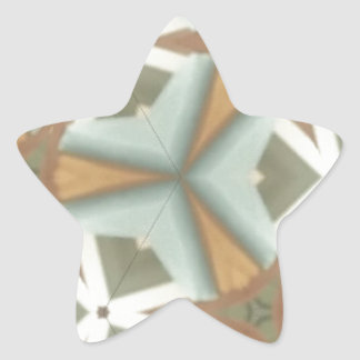ZAZ Mid Cent Triangle Patt Star Sticker